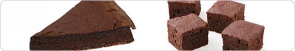 ガトーショコラとブラウニーは形が違う