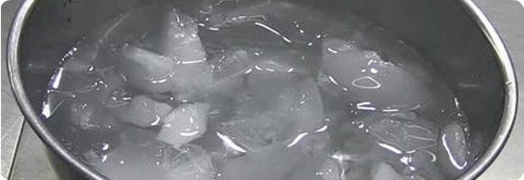 ローストビーフを氷水で解凍