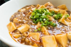 餃子の変わり種に麻婆豆腐
