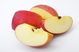餃子の変わり種にリンゴ