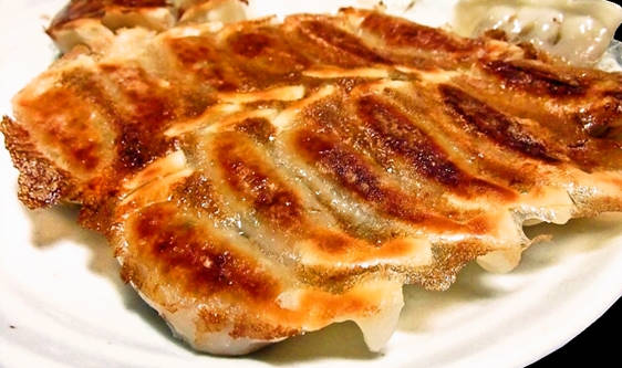美味しい餃子の焼き上がり