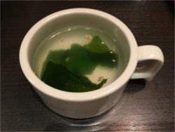 冷やし中華にわかめスープを付け合わせに!