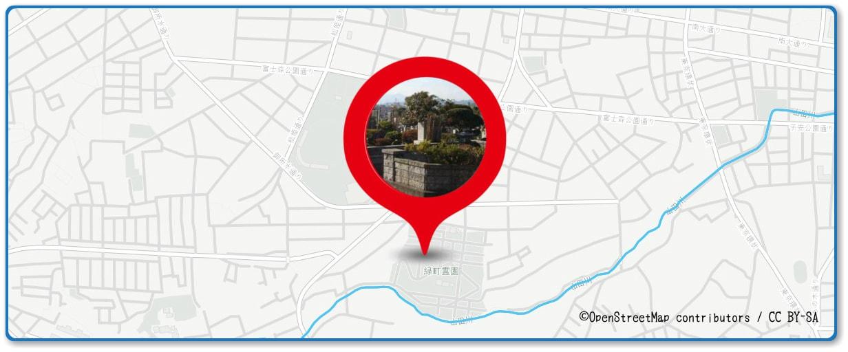 八王子花火大会の穴場 緑町霊園付近付近の地図