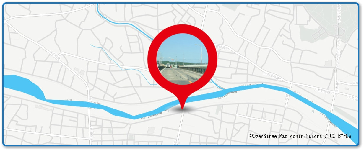 八王子花火大会の穴場 浅川橋付近の地図