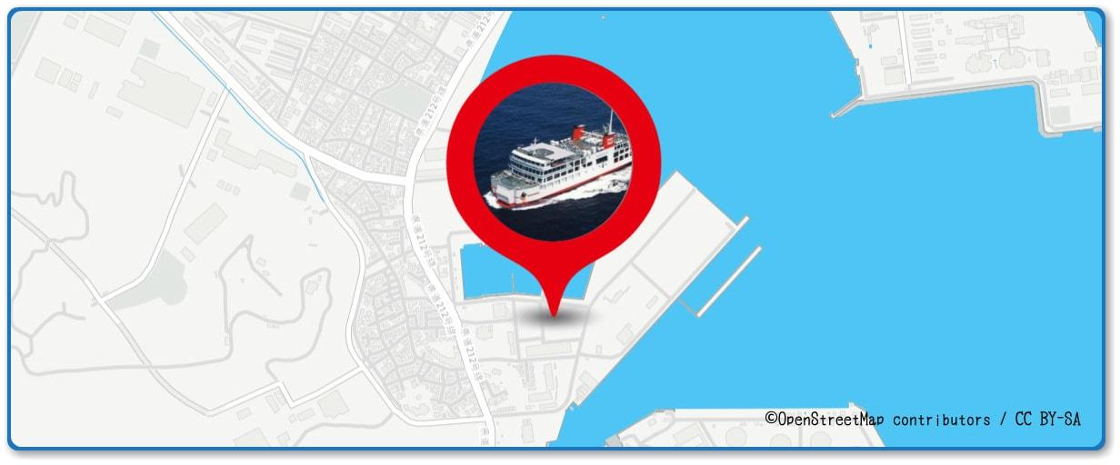 久里浜ペリー祭花火大会の穴場 東京湾フェリー遊覧船付近の地図
