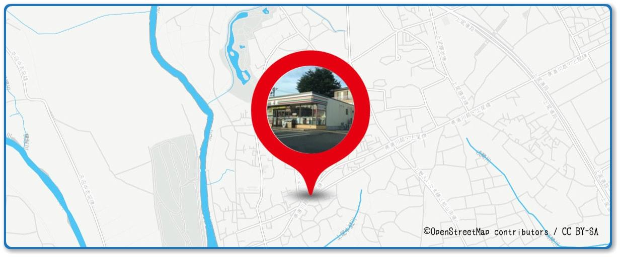 あげお花火大会 セブンイレブン上尾平方店付近の地図