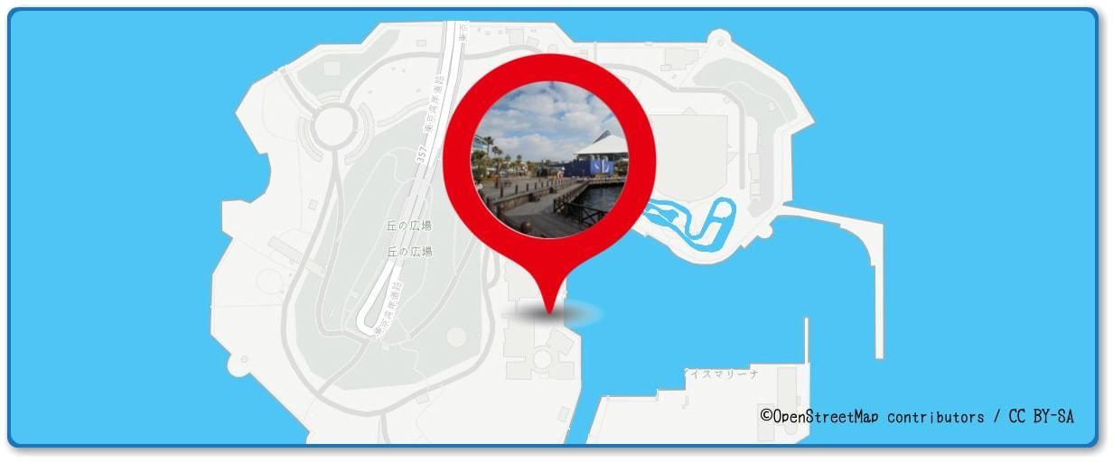 花火シンフォニアの穴場 ボードウォーク付近の地図