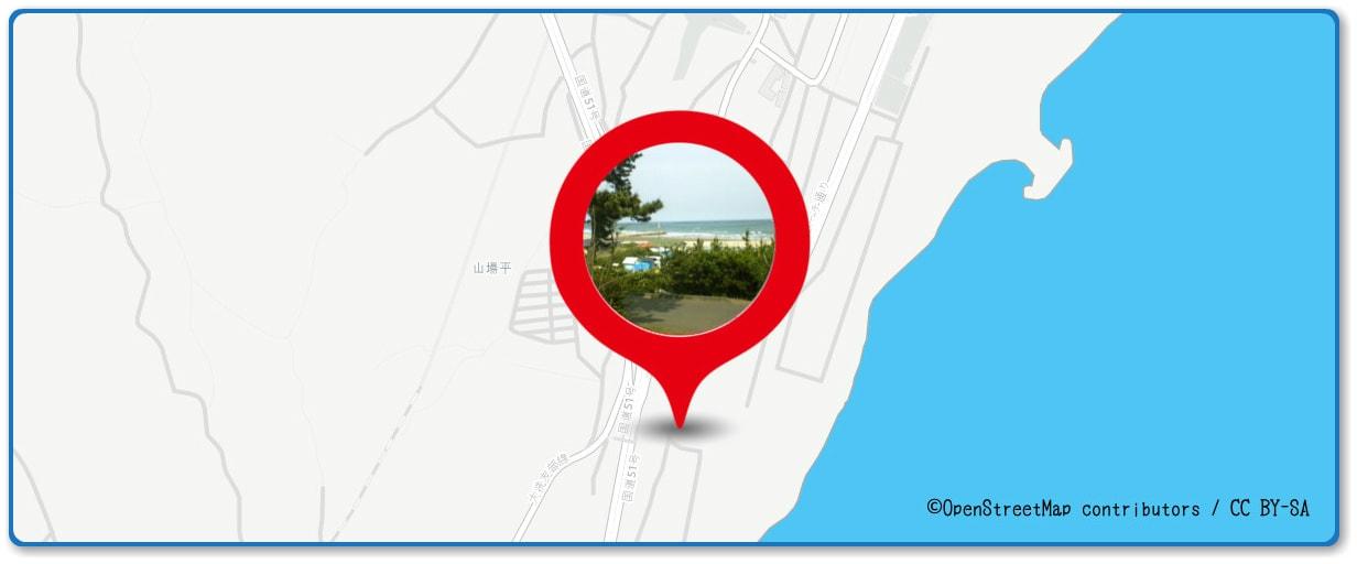 大洗海上花火大会の穴場 大洗サンビーチキャンプ場周辺の地図