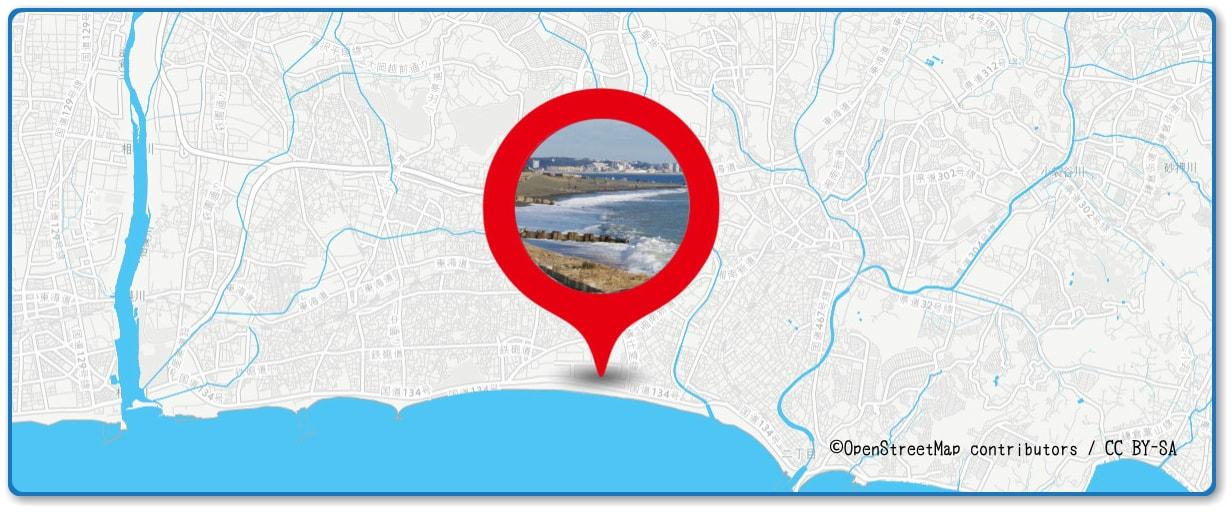 サザンビーチちがさき花火大会の穴場スポット 辻堂海浜公園周辺の地図