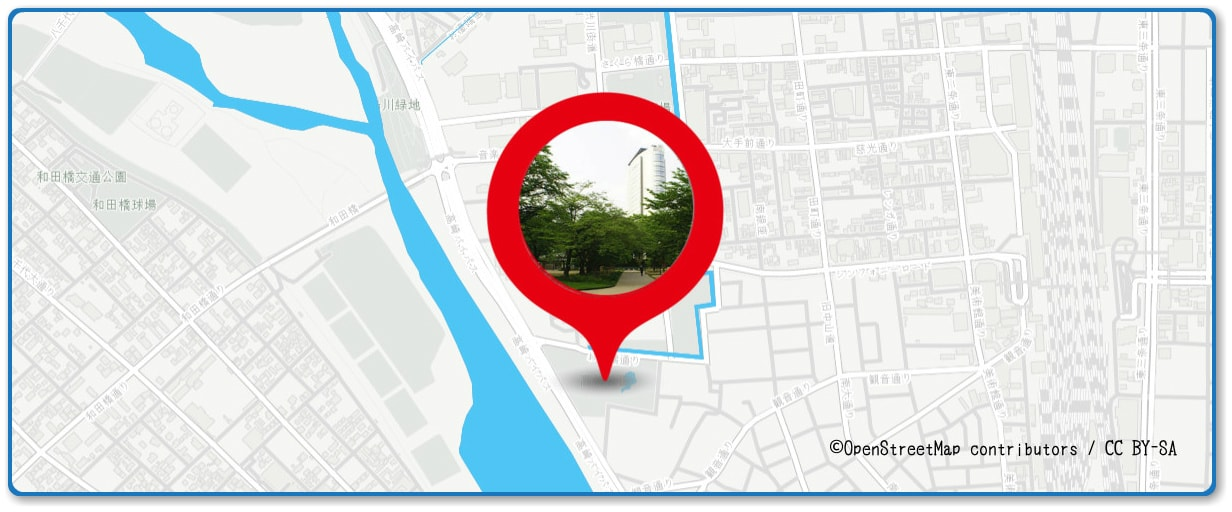 高崎まつり大花火大会の穴場スポット 高崎公園周辺の地図