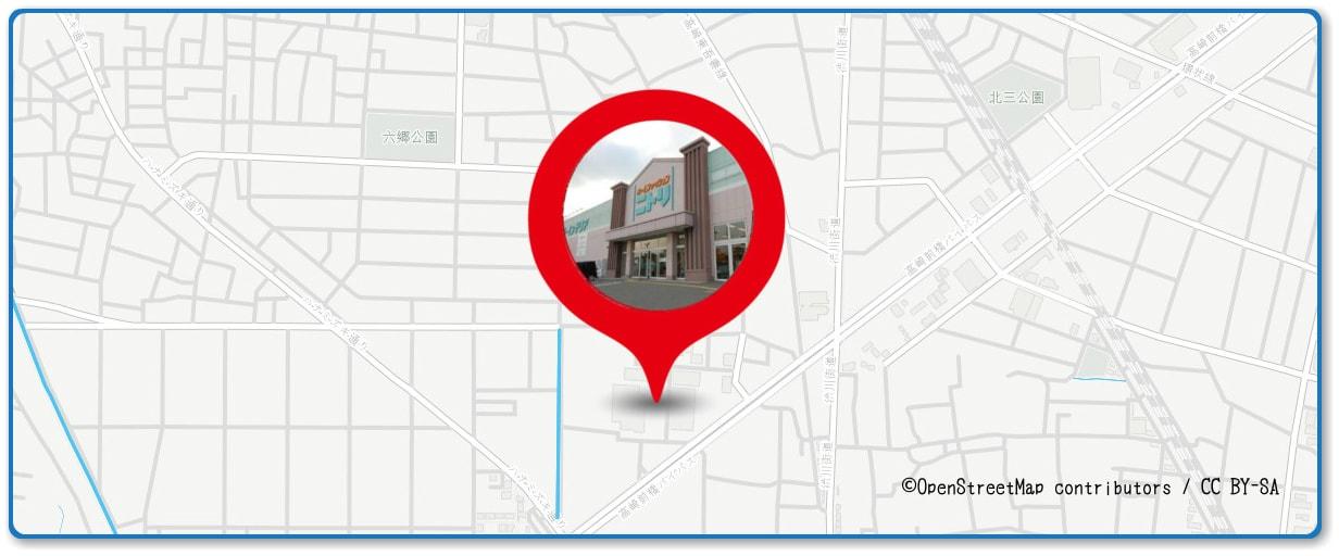 高崎まつり大花火大会の穴場スポット ニトリ高崎店周辺の地図
