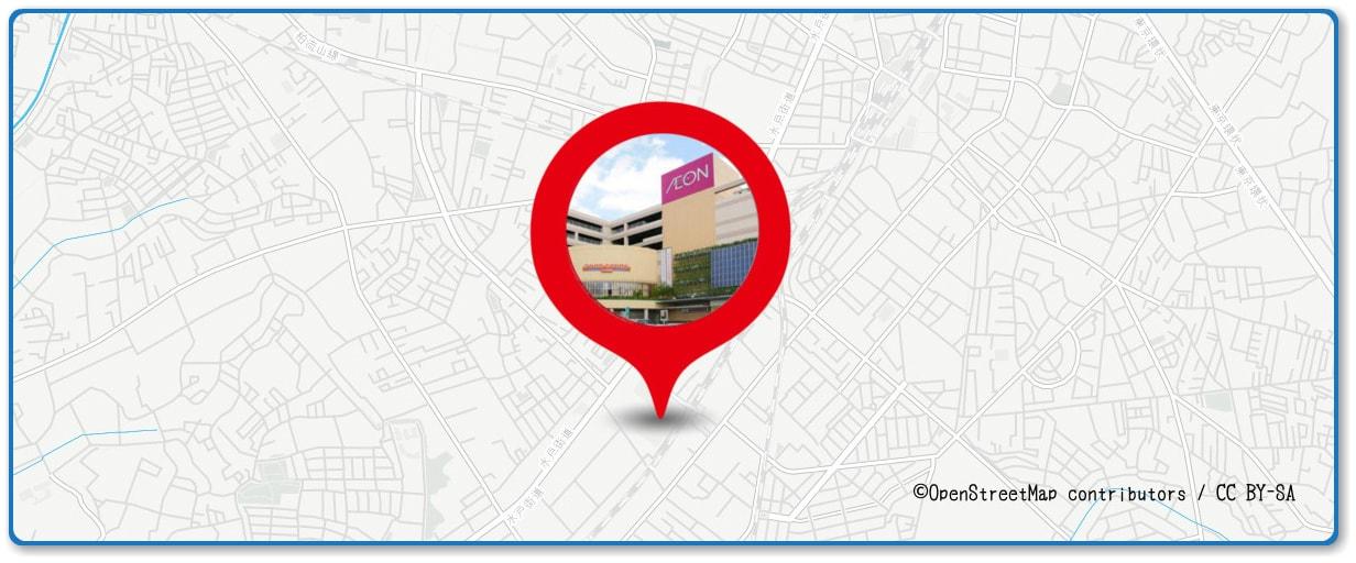 手賀沼花火大会の穴場スポット イオン柏店周辺の地図