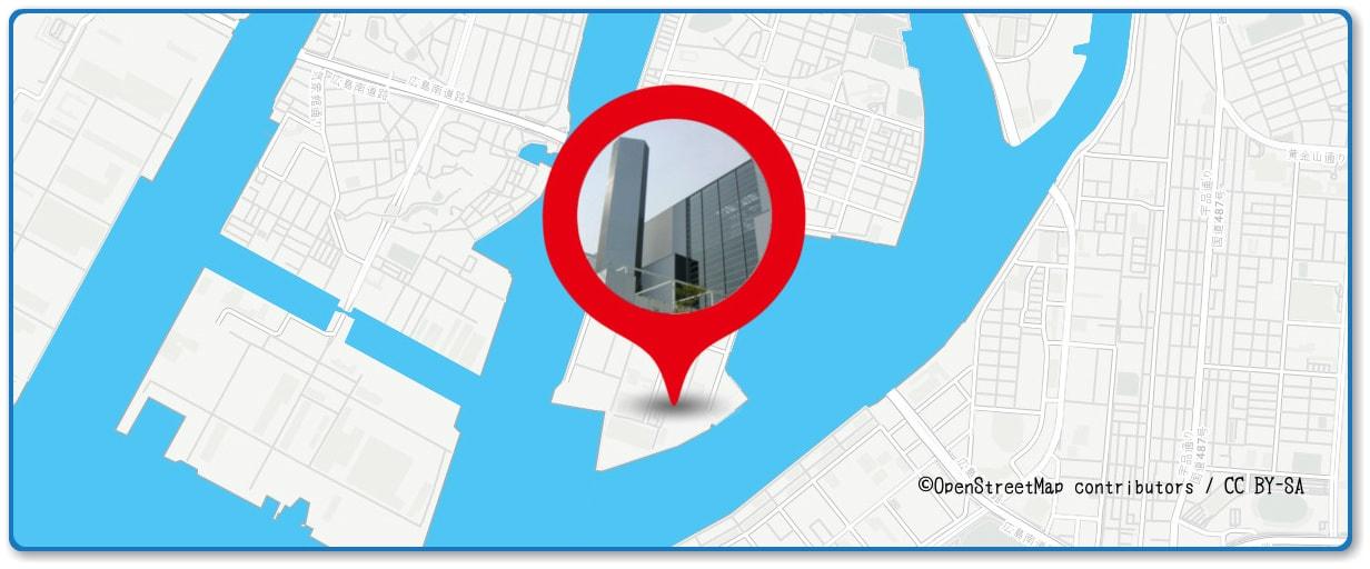 広島みなと夢花火大会の穴場スポット 広島市役所 中工場(ゴミ処理場)周辺の地図