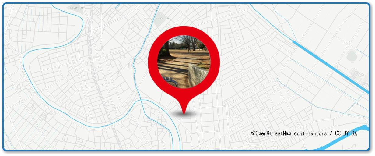越谷花火大会の穴場スポット 東越谷第二公園周辺の地図