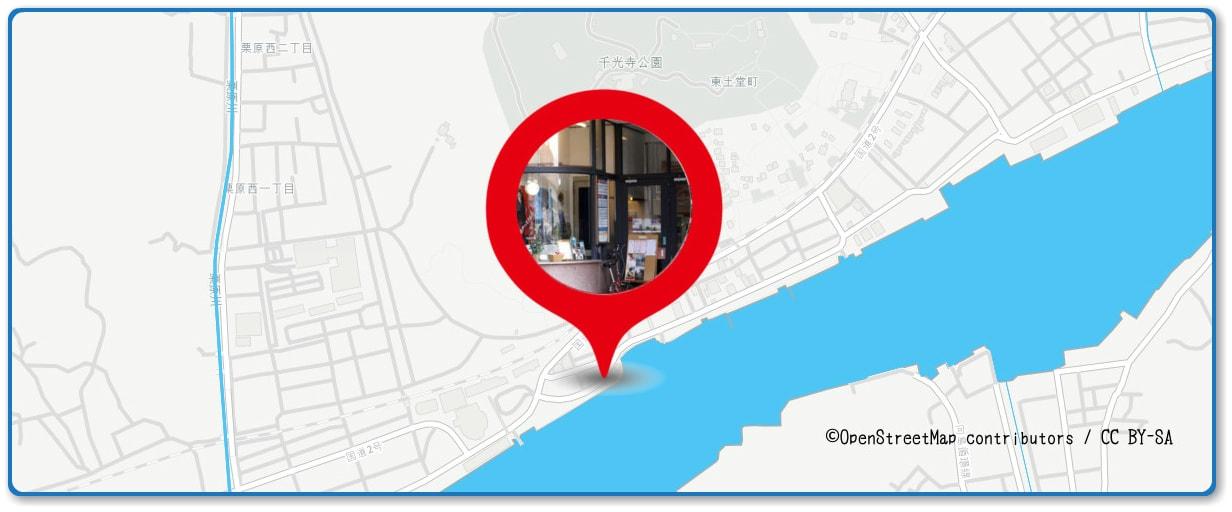 おのみち住吉花火まつりの穴場スポット 駅前緑化公園周辺の地図