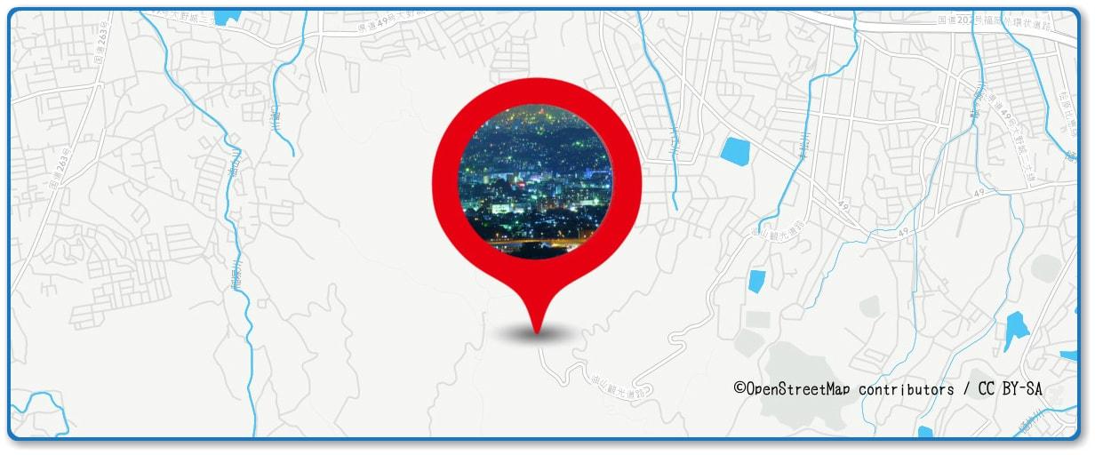 西日本大濠花火大会の穴場スポット 片江展望台公園周辺の地図