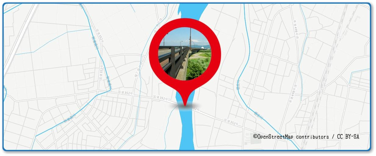 長岡まつり大花火大会の穴場スポット 蔵王橋周辺の地図
