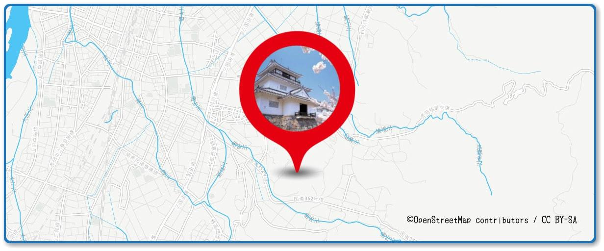 長岡まつり大花火大会の穴場スポット 悠久山公園周辺の地図