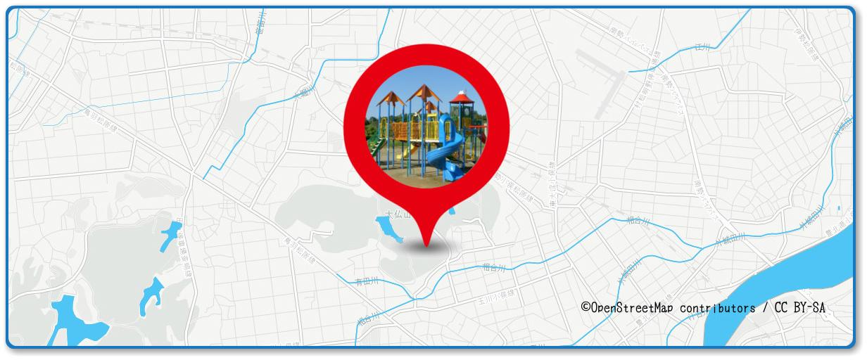伊勢神宮奉納全国花火大会の穴場スポット 大仏山公園の周辺地図