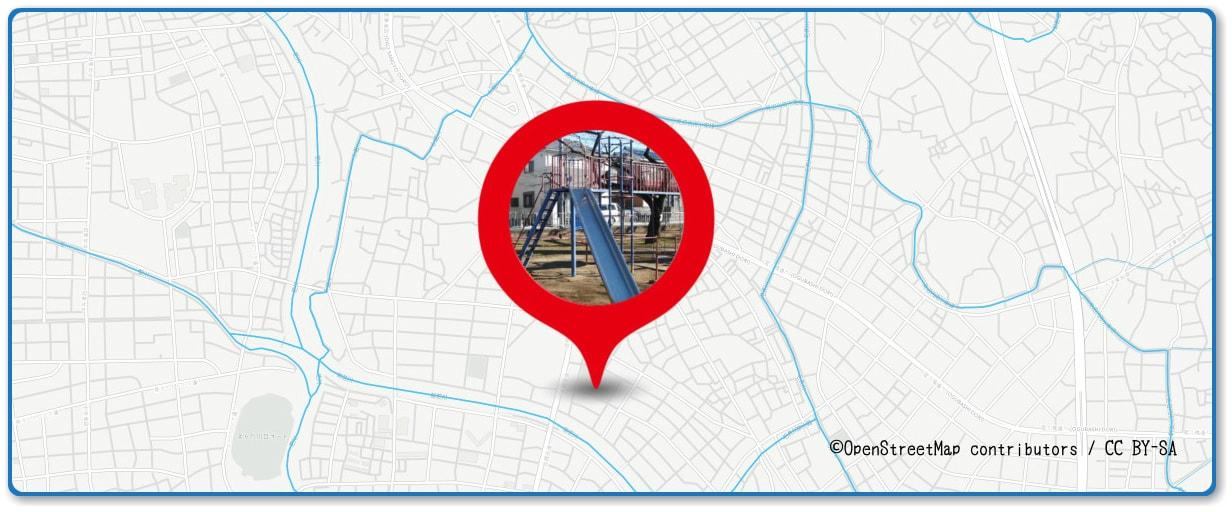 川口たたら祭り花火大会の穴場スポット 三ツ和公園周辺の地図