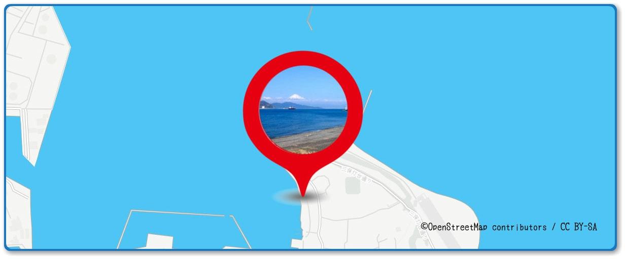 清水みなと祭り 海上花火大会の穴場スポット 三保海水浴場周辺の地図