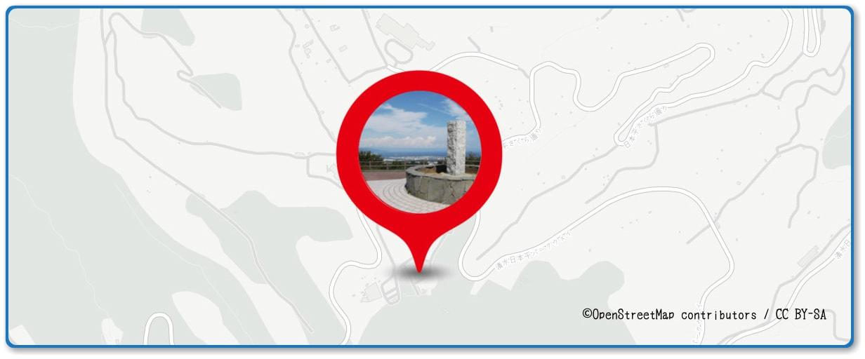 清水みなと祭り 海上花火大会の穴場スポット 日本平山頂展望台周辺の地図