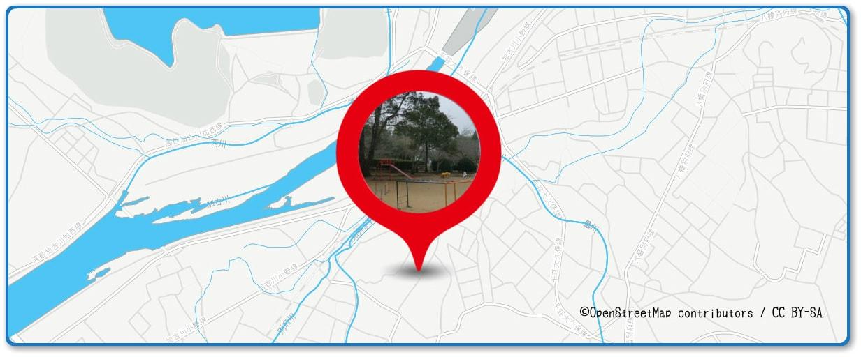 加古川まつり花火大会の穴場スポット 日岡山公園周辺の地図