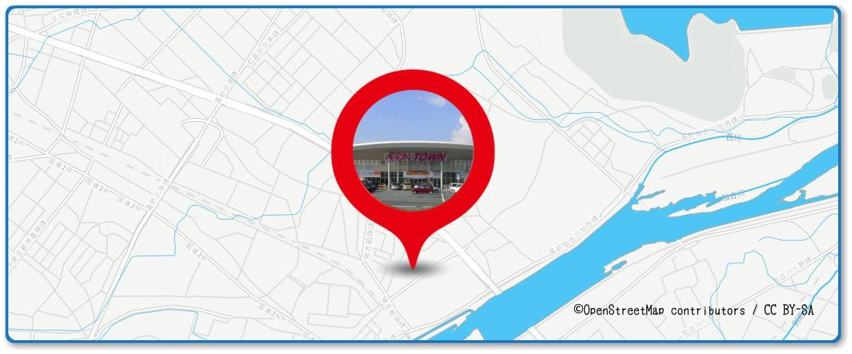 加古川まつり花火大会の穴場スポット イオンタウン加古川周辺の地図