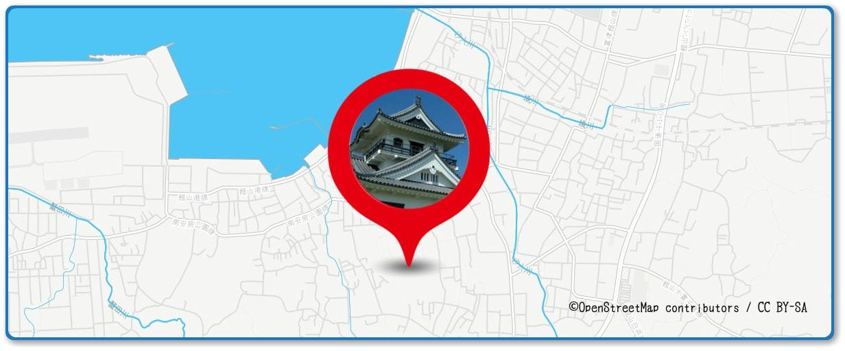 館山観光まつり館山湾花火大会の穴場スポット 城山公園周辺の地図