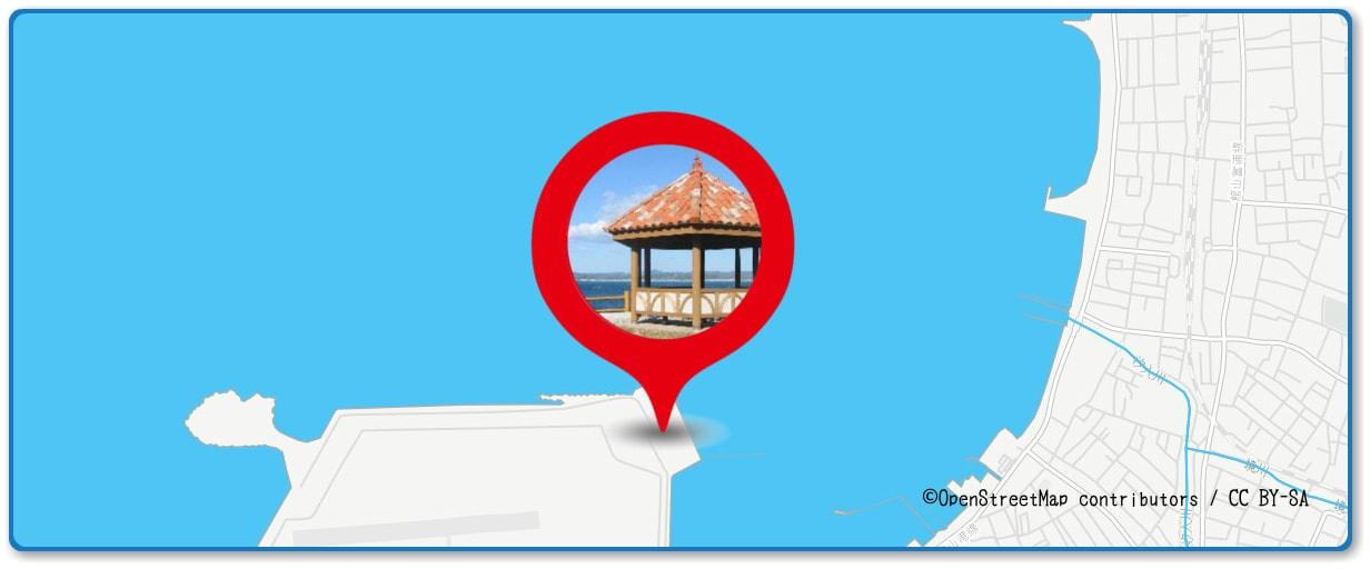館山観光まつり館山湾花火大会の穴場スポット 鷹ノ島公園周辺の地図