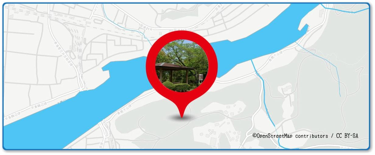 犬山日本ライン夏まつり納涼花火大会の穴場スポット 成田山・善光寺周辺の地図