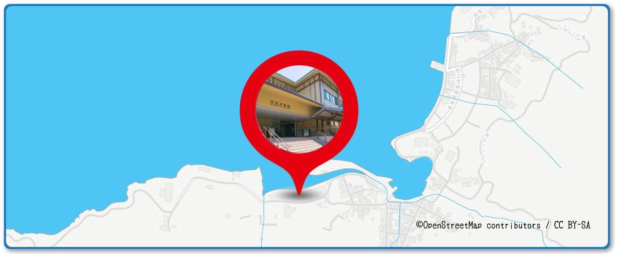 宮島水中花火大会の穴場スポット 宮島水族館裏周辺の地図