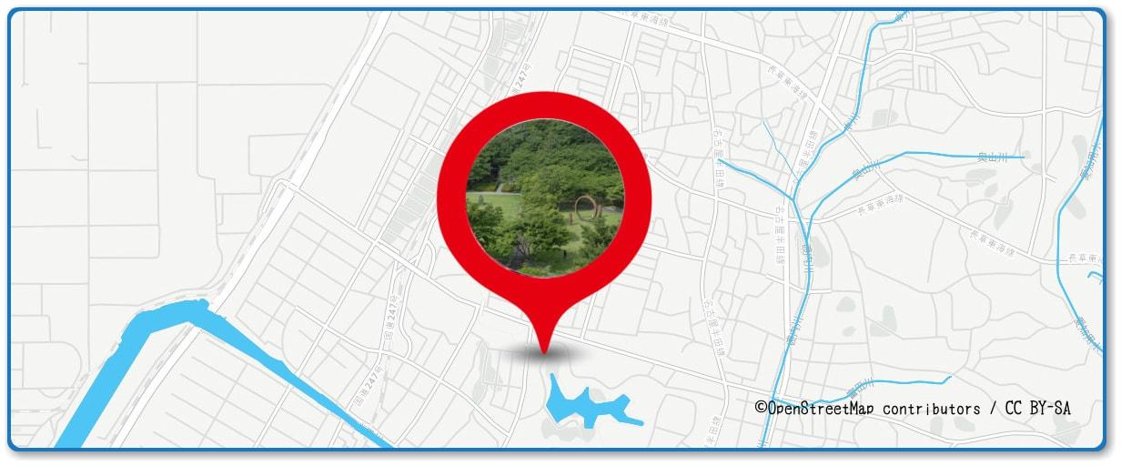東海まつり花火大会の穴場スポット 大池公園内周辺の地図