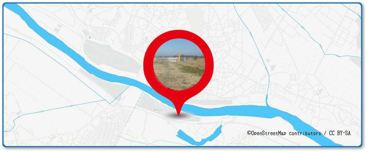 取手花火大会の穴場スポット 千葉県我孫子市側の土手周辺の地図