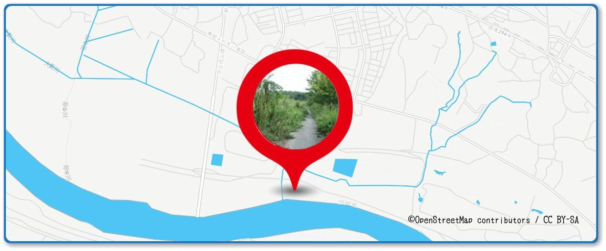 取手花火大会の穴場スポット 戸頭の土手周辺の地図