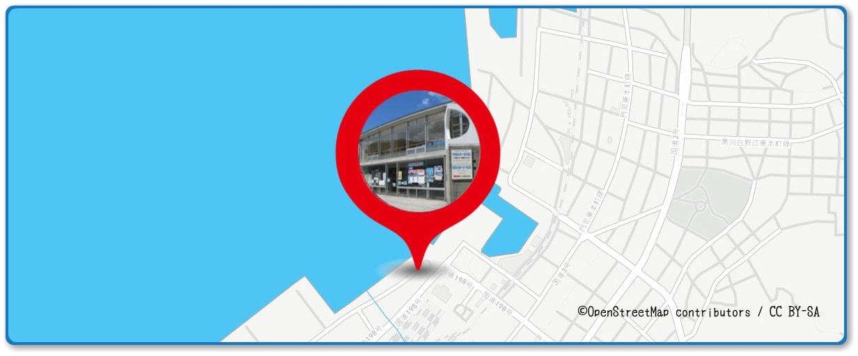 関門海峡花火大会の穴場スポット マリンゲートもじ周辺の地図
