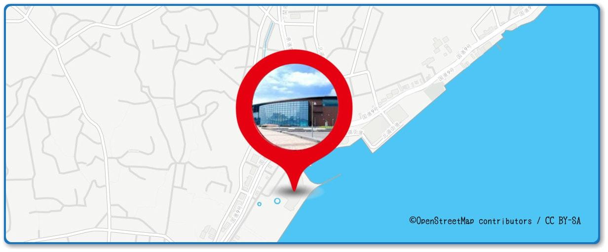 関門海峡花火大会の穴場スポット 海響館周辺の地図
