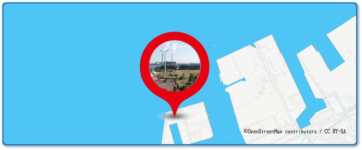 木更津港まつり花火大会の穴場スポット 袖ヶ浦海浜公園周辺の地図