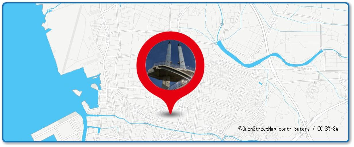 木更津港まつり花火大会の穴場スポット 太田山公園周辺の地図