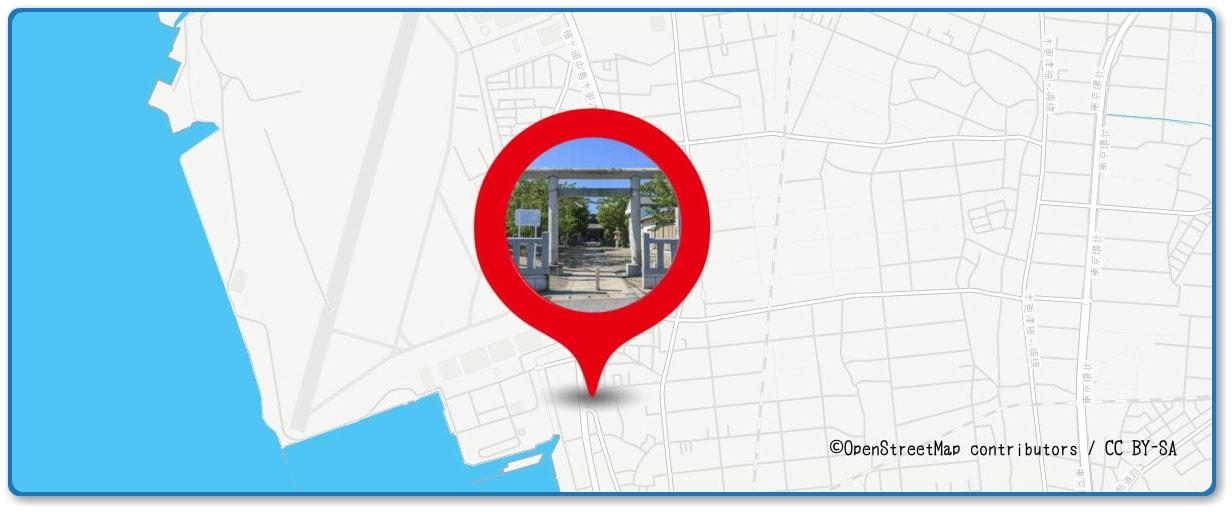 木更津港まつり花火大会の穴場スポット 吾妻神社周辺の地図