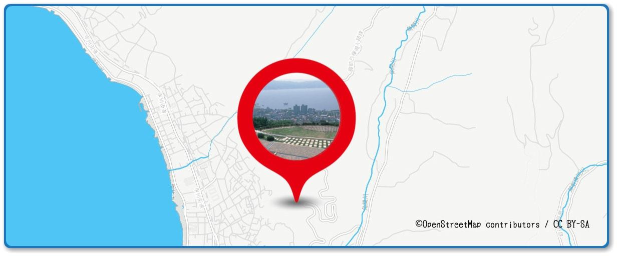 諏訪湖祭湖上花火大会の穴場スポット 立石公園周辺の地図