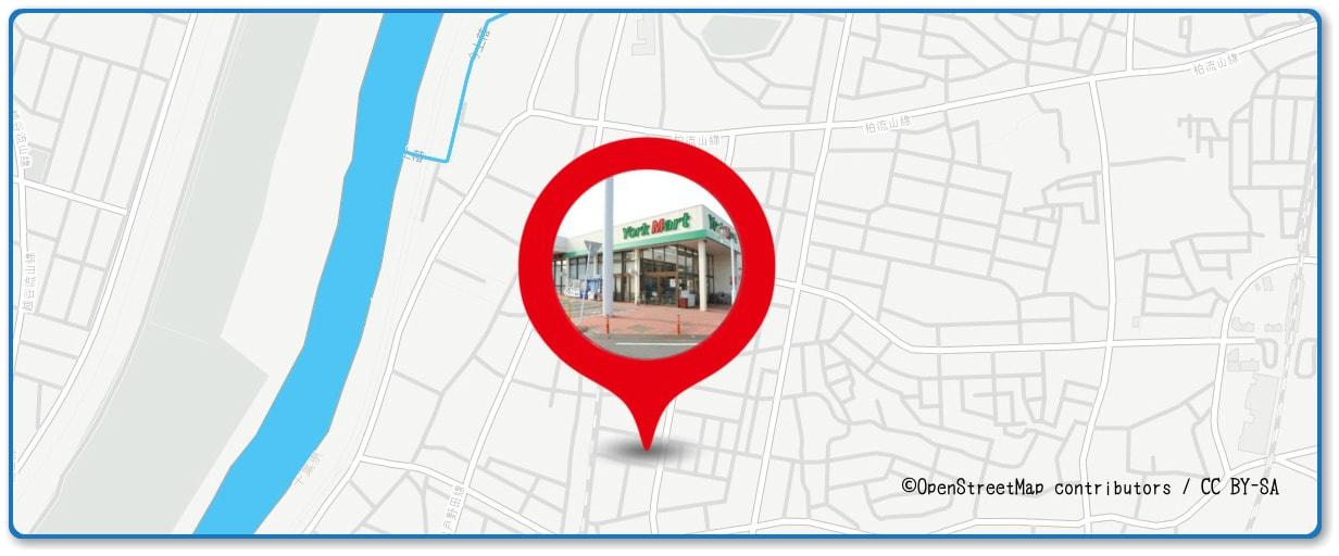 流山花火大会の穴場スポット ヨークマート平和台店周辺の地図