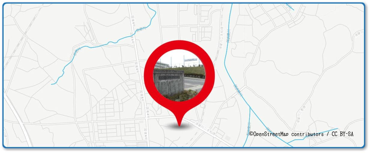 釈迦堂川花火大会の穴場スポット 須賀川第二中学校周辺の地図